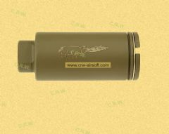 Firepig flash hider for M4 by Dboys (Tan, black)